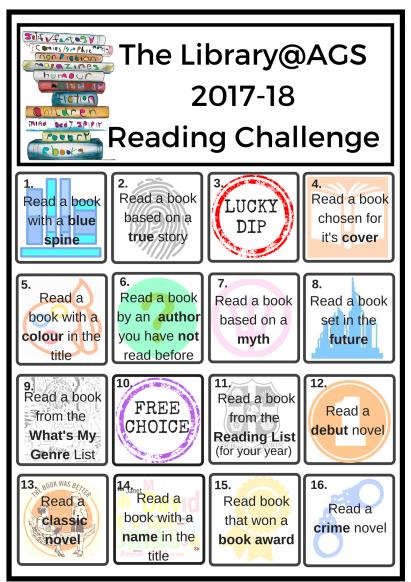 Reading Challenge Poster 2017