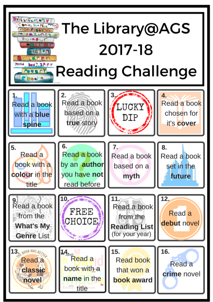 Reading Challenge Poster 2017